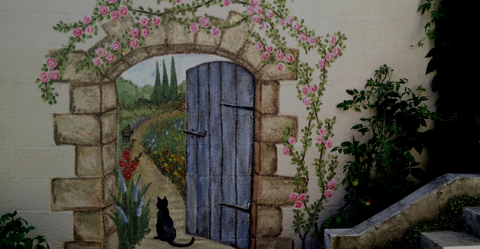 Secret garden mural paris en rose for Mural garden